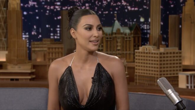 Kim Kardashian au Tonight Show Starring Jimmy Fallon