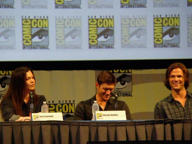 Sera Gamble, Jensen Ackles & Jared Padalecki au San Diego Comic-Con International 2011