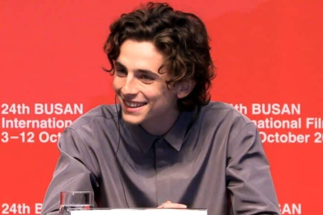 Timothée Chalamet au Festival International du film de Busan en 2019